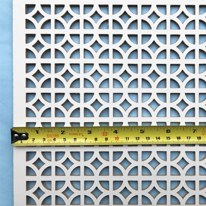 Ockley white faced perforated MDF screening panel
